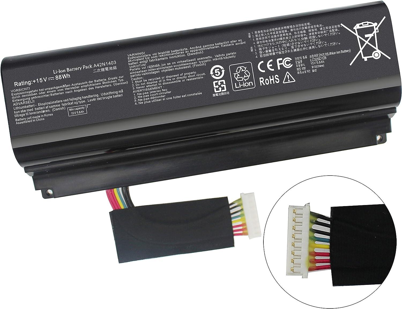 "Gomarty New A42N1403 Battery for ASUS ROG GFX71JY 17.3"" GFX71JY4710 G751 G751J G751JT G751JY G751JL G751JM GFX71JY GFX71JY4710 GFX71JY4710 G751J-BHI7T25 G751JL-BSI7T28 A42LM93 0B110-00290000 4ICR19/66"