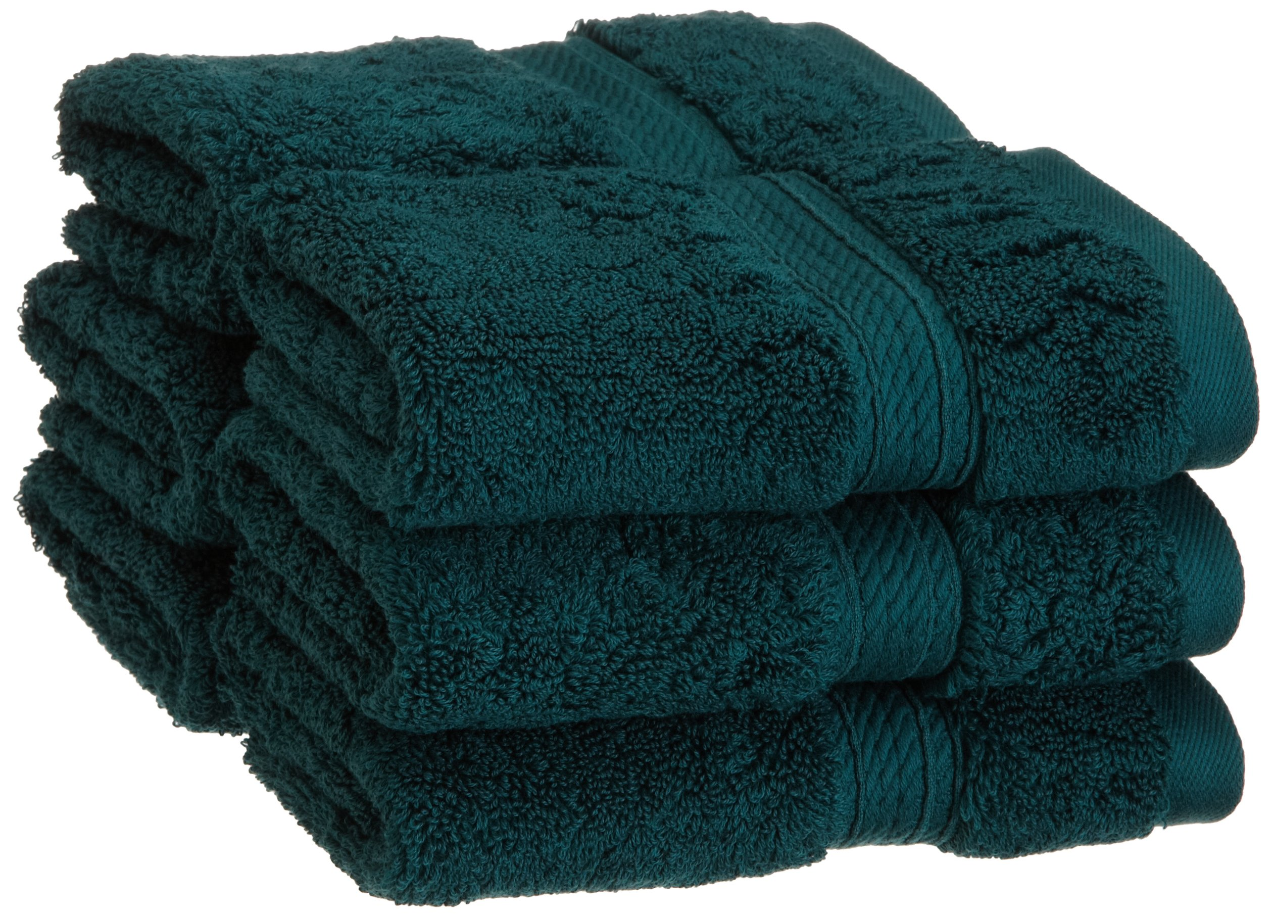 Superior 900 GSM Luxury Bathroom Face Towels, Made of 100% Premium Long-Staple Combed Cotton, Set of 6 Hotel & Spa Quality Washcloths - Teal, 13'' x 13'' each