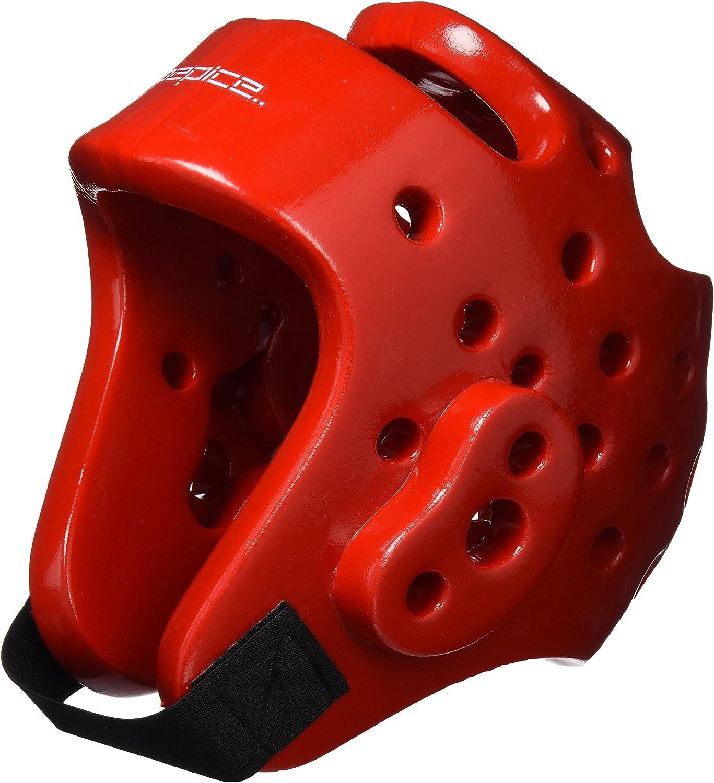 Color Rojo DEPICE Casco para Deportes de Lucha
