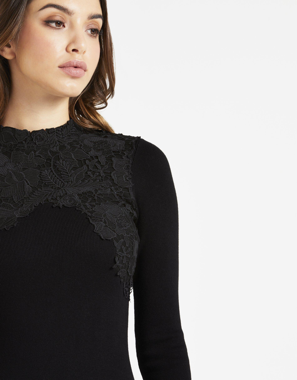 LIPSY Womens Lace Appliquà Dress Black US 10 (UK 14) by LIPSY (Image #6)