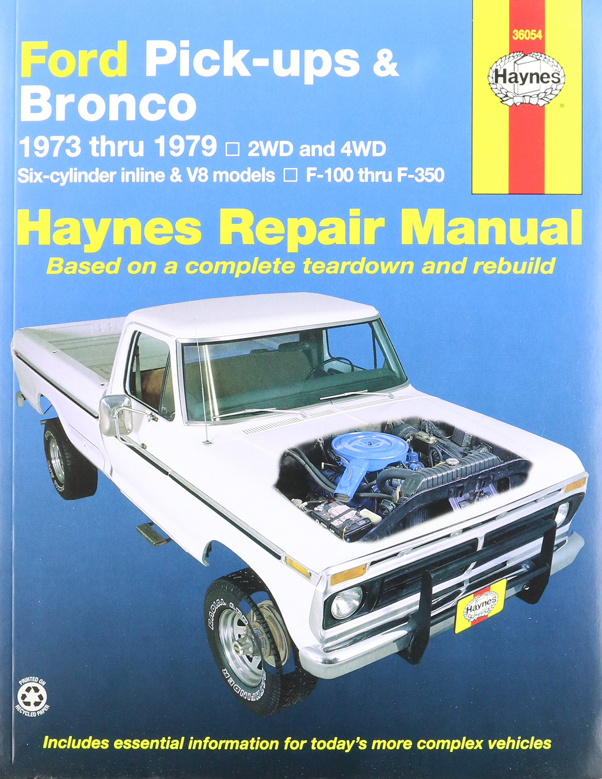 Amazon.com: Haynes Ford Pick-ups and Bronco (73 - 79) Manual  (0038345007880): Books