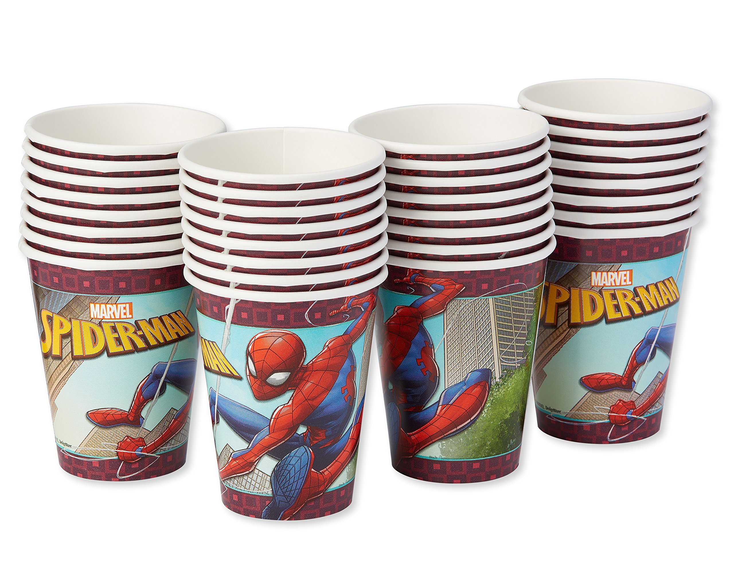 American Greetings Spider-Man 2 Paper Party Cups, Paper Cups, 32-Count