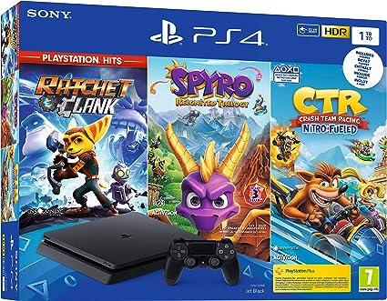 PS4 1 To Crash Team Racing + Spyro + RC Hits - noire [Importación ...