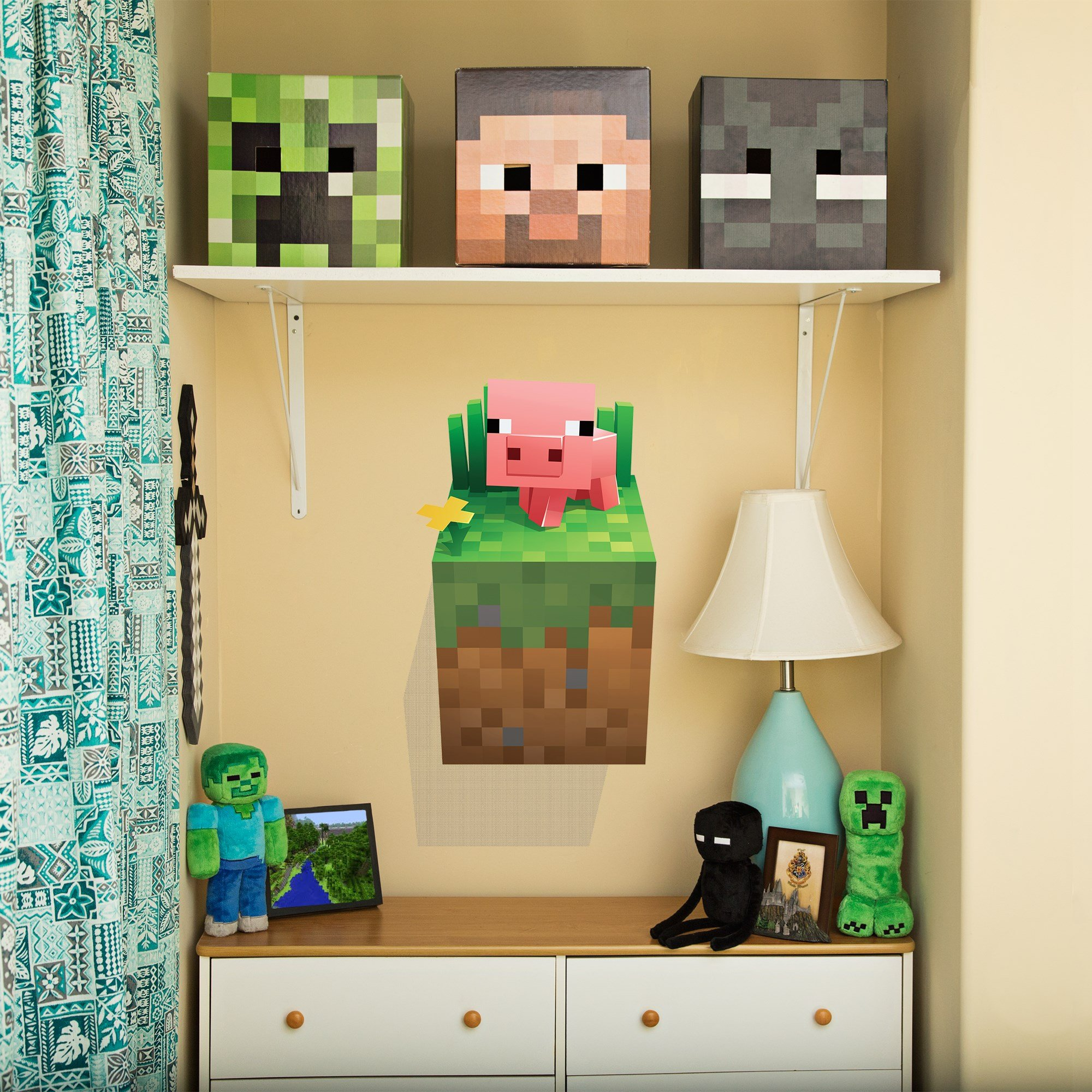 JINX Minecraft Wall Cling Decal Set (Creeper, Enderman, Pig, Cow) by JINX (Image #5)