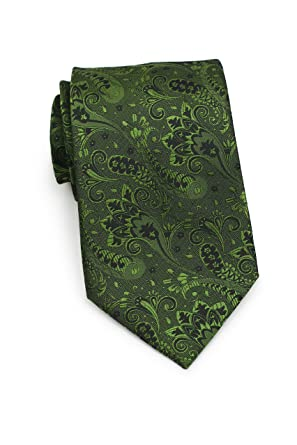 ad7c6472ad41 Bows-N-Ties Men's Necktie Luxe Paisley Silk Satin Tie 3.25 Inches (Citrine