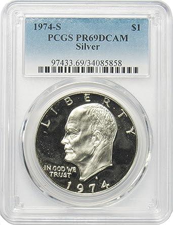 1974 S Eisenhower Silver Ike Dollar PCGS PR69DCAM