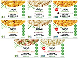 Daiya Cheezy Mac, Variety Pack with 5 Flavors :: Rich & Creamy Plant-Based Mac & Cheese :: Deliciously Dairy Free, Vegan, Gluten Free, Soy Free :: With Gluten Free Noodles (8 Pack), 8 Piece Assortment