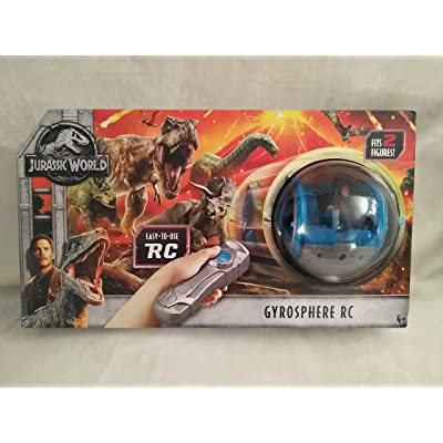Jurassic World RC Remote Control Gyrosphere Fits 2 Figures Easy to Use Ages 4+ New in Unopened Box: Toys & Games