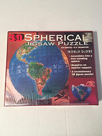 3d spherical jigsaw puzzle world globe 530 pieces amazon 3d spherical jigsaw puzzle world globe 530 pieces gumiabroncs Images