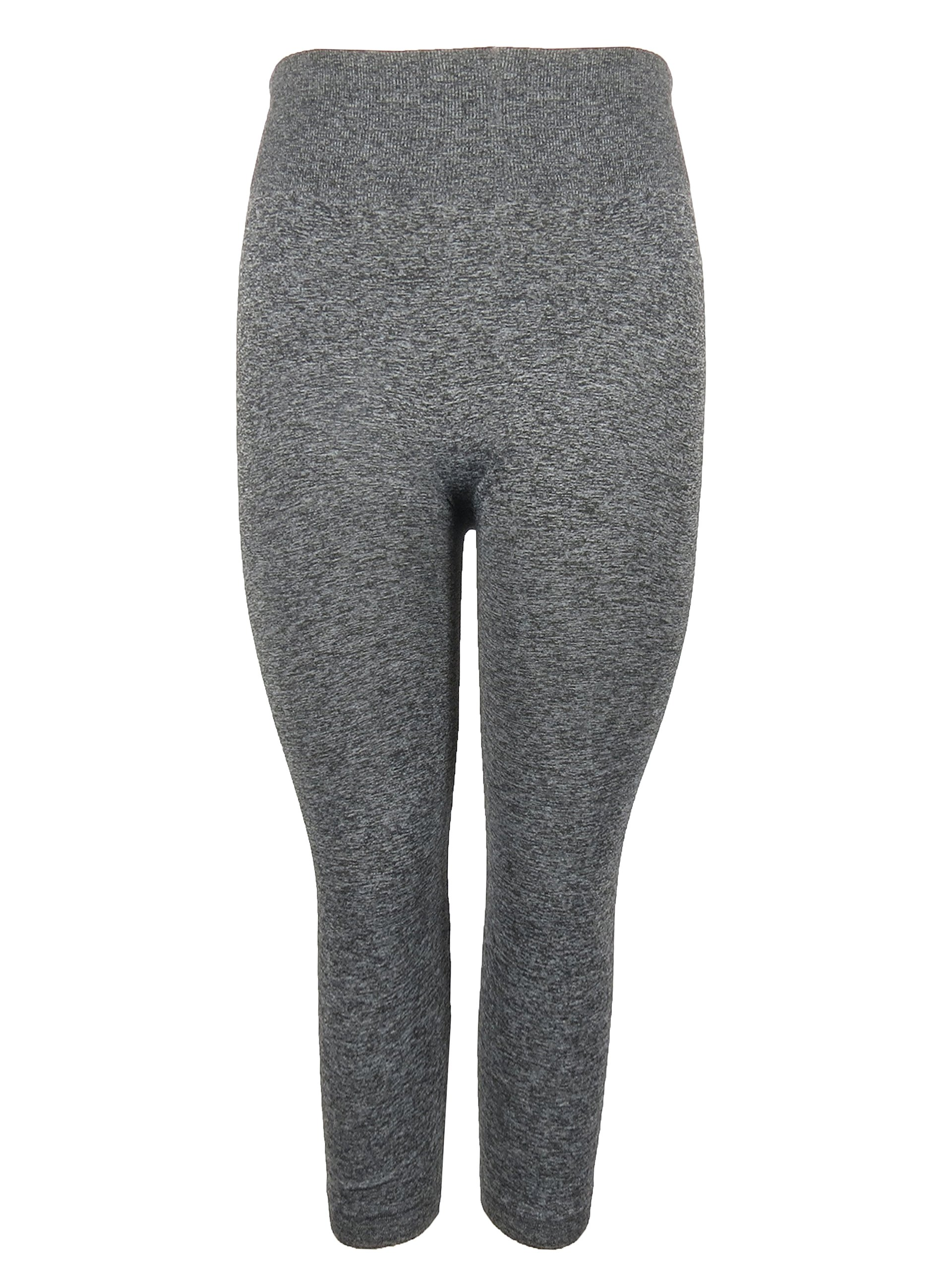 Crush Ladies Seamless Legging Size 3X - Marled Grey