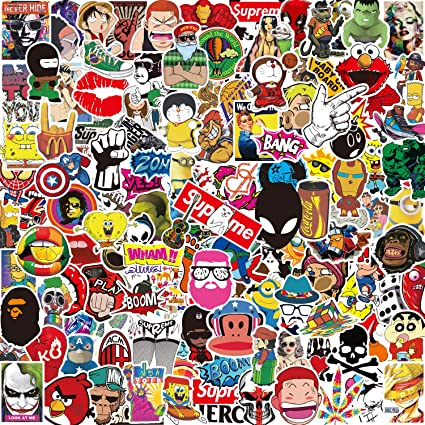 Pack Pegatinas [150-PCS],Q-Window Stickers Vinilo Graffiti ...