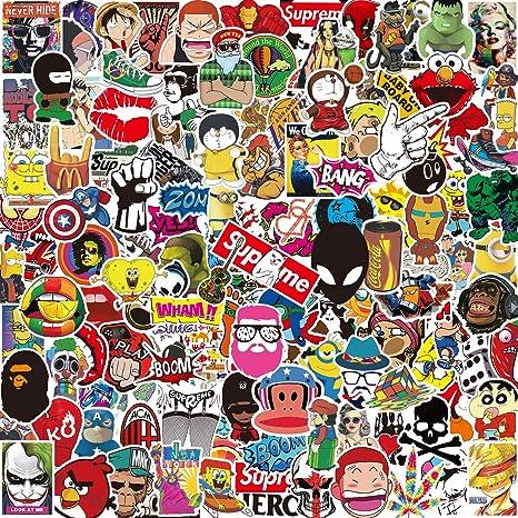 Aufkleber Pack [150-PCS], Q-Window Graffiti Decal Vinyl Stickers für Koffer Laptop Skateboard Kinder Auto Motorrad Fahrrad Sn