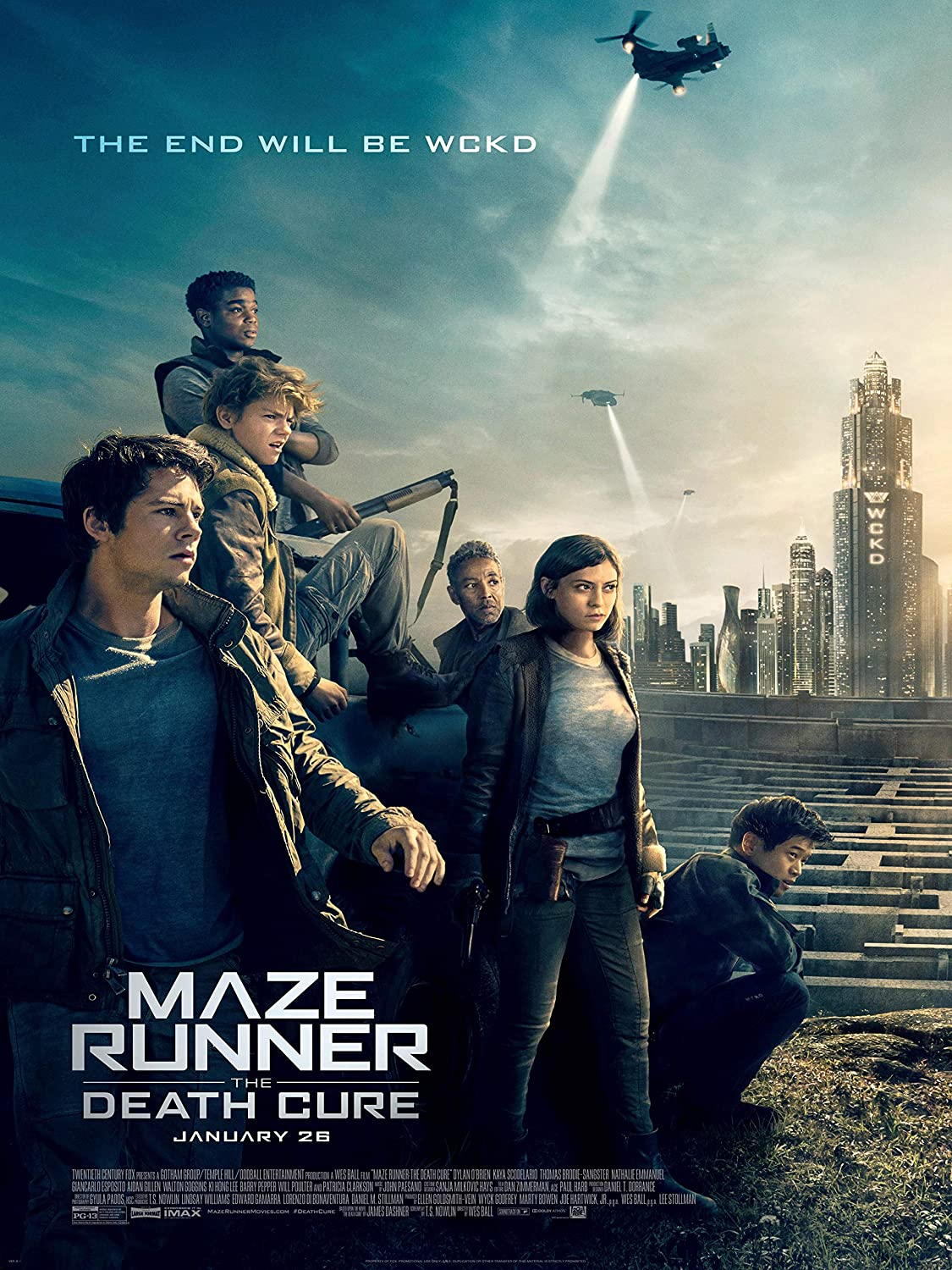 Maze Runner The Death Cure Movie Poster Standard Size 18×24 inches