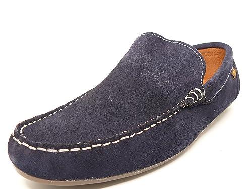 Zapato casual hombre tipo mocasin DELTELL en piel serraje color Azul Marino - 950 - 11: Amazon.es: Zapatos y complementos