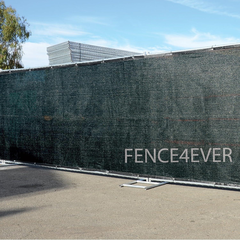 Amazon.com : Fence4ever 6u0027 X 50u0027 3rd Gen Black Fence Privacy Screen  Windscreen Shade Fabric Mesh Netting Tarp (Aluminum Grommets) : Garden U0026  Outdoor