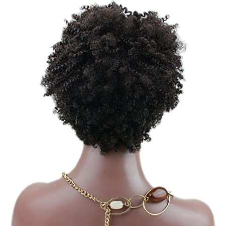 Amazon.com : Rossy&Nancy Afro Short Small Kinky Curly Wigs 100% Brazilian Human Hair Brown Color None Lace Full Machine Made Glueless Wigs for Black Women : ...