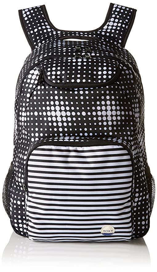 Mochila mediana Roxy Shadow Swell, color antracita Beachouse Geo, 33 x 14 x 45
