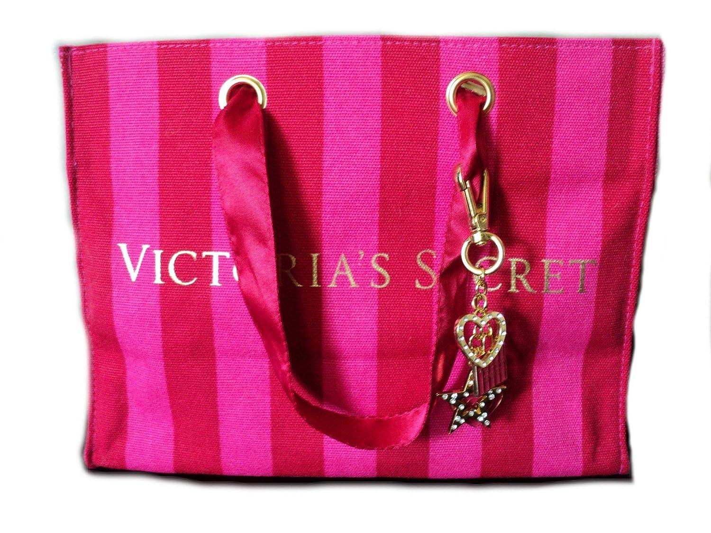 Victorias Secret Limited Edition Canvas Tote with Detachable Charm Clip