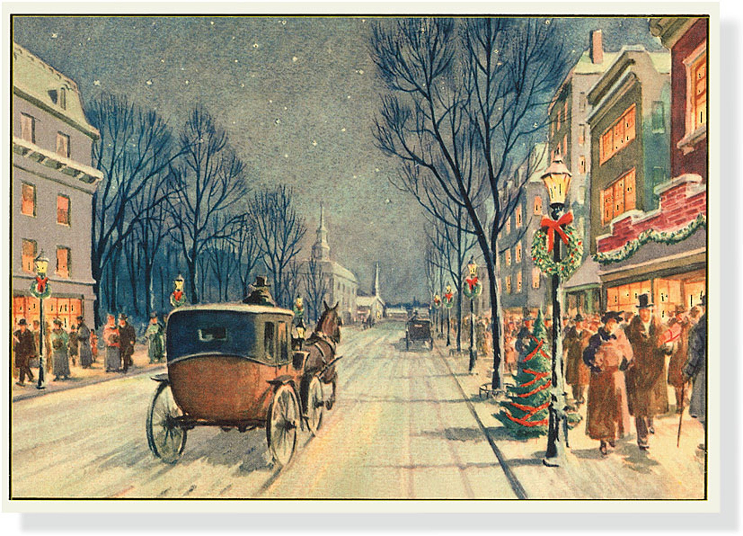 Vintage Carriage Ride Deluxe Boxed Holiday Cards (Christmas Cards ...