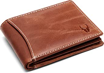 Wildhorn Genuine Leather Hand-Crafted Wallet Men Wallets, Brown, 10 cm - WHW159