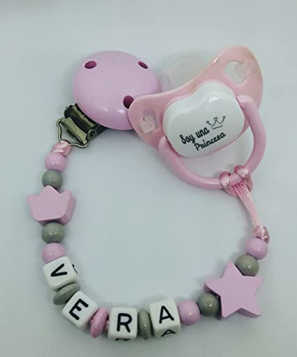 pack regalo bebé cadena de chupete personalizado y chupete divertido ...