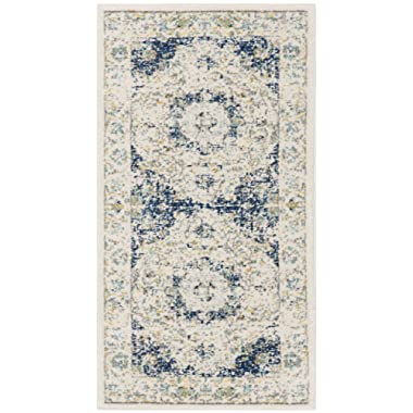 Safavieh Evoke Collection EVK220C Vintage Oriental Ivory and Blue Area Rug (2'2  x 4')