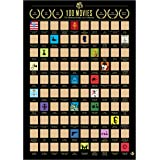 "100 Movies Scratch Off Poster - Top Movie Bucket List Poster with Scratching Tool- Bonus ""Greatest Movie Quotes"" ebook…"