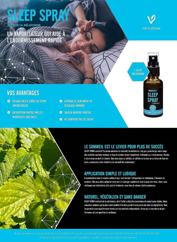 BRAINEFECT SLEEP SPRAY | 1 mg melatonina por dosis diaria | 30 ml ...