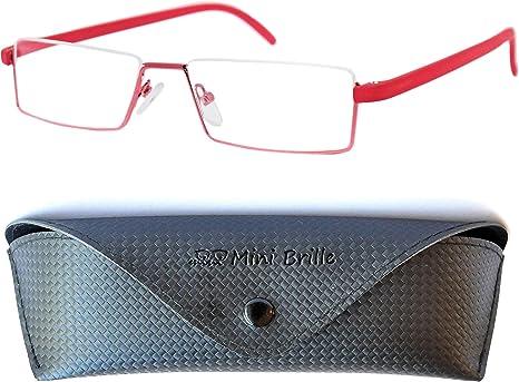 | IN OMAGGIO Custodia Montatura Minimal in Acciaio Diottrie +2.0 MINI BRILLE Occhiali da Lettura Leggeri e Flessibili da Uomo e da Donna Nero