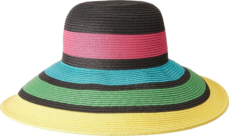 016f5d3cba25d San Diego Hat Company Women s Stripes Sun Brim Hat