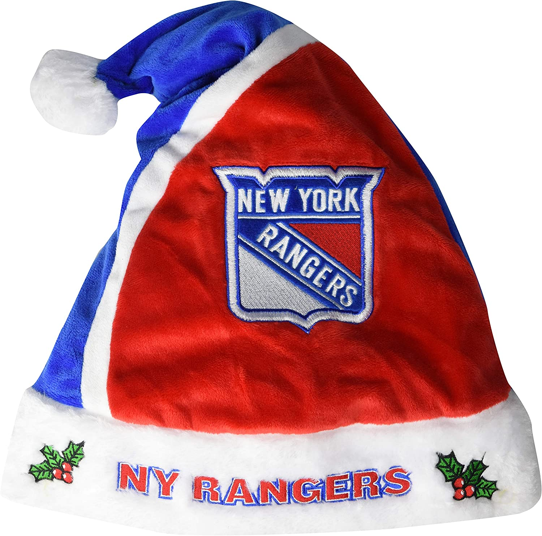Forever Collectibles 2015 NHL Hockey Team Logo Holiday Plush Basic Santa Hat - Pick Team