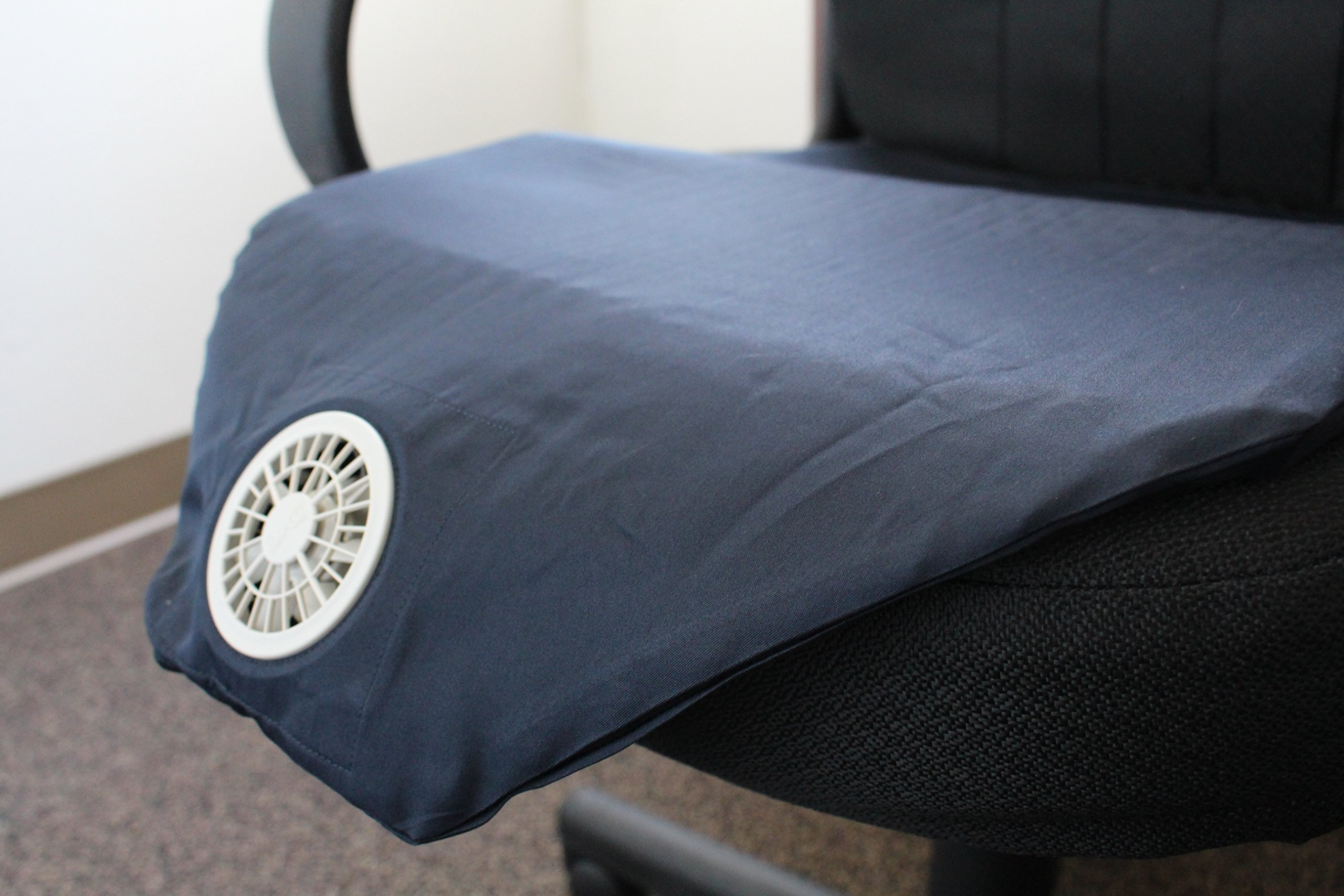 Japanese top seller office Luxury Seat Auto Cooling cold Cushion (Cover) Air condition brand new (Black) All Season