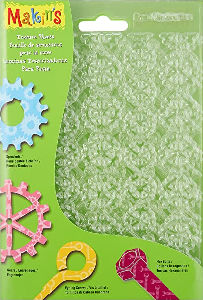 7-Inch by 5-1//2-Inch Scale//Snowflake//Woodgrain//Stars 4 Per Package Makins USA M380-4 Clay Molds Texture Sheets