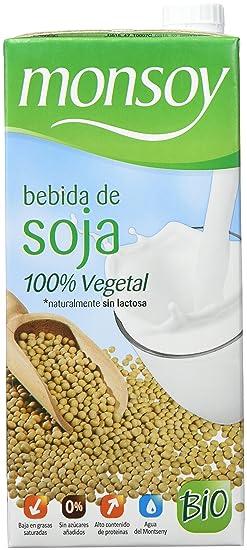 MONSOY Bebida de Soja Ecologica 1L [caja de 4 x 1L]