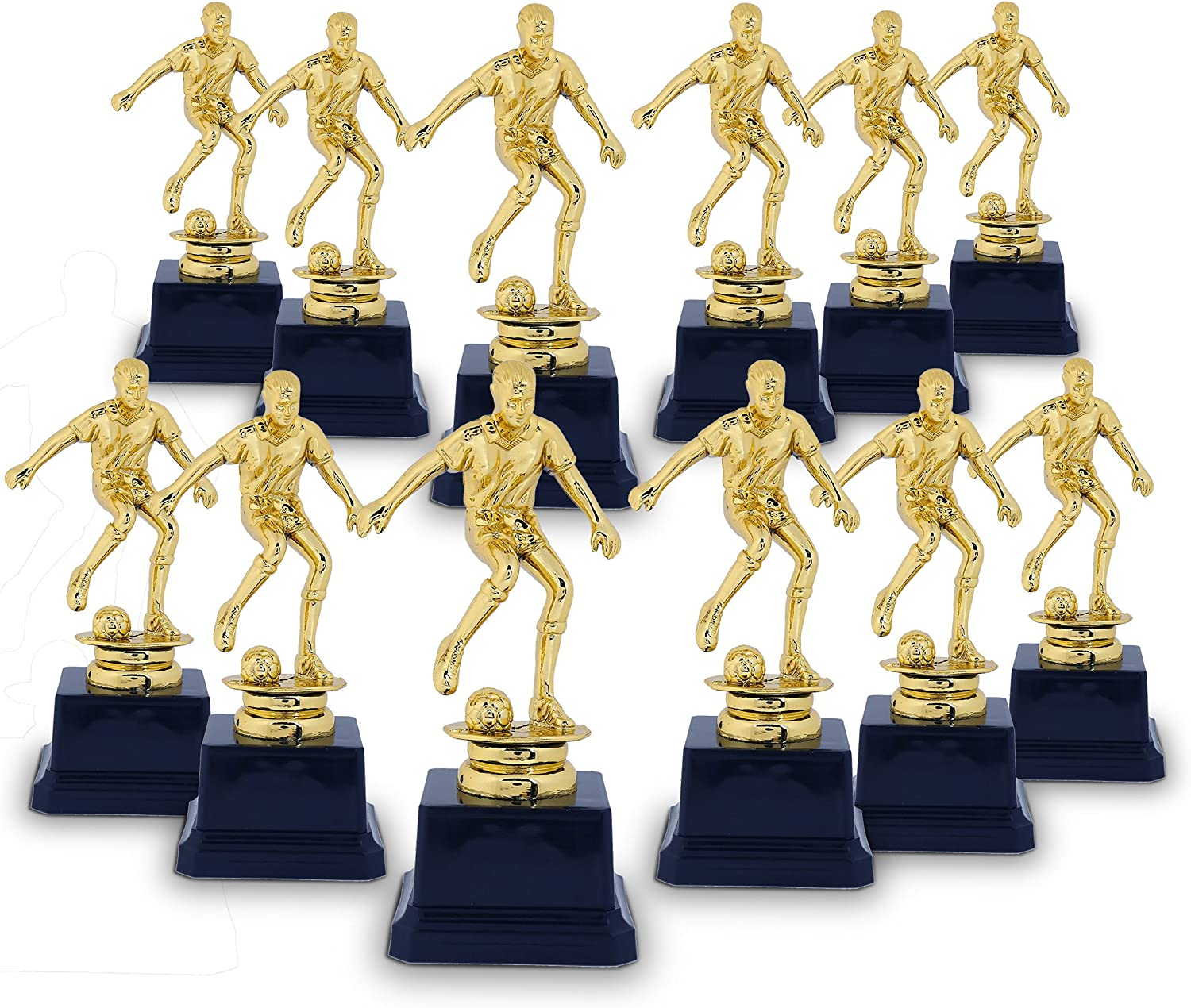 Juvale Soccer Tournament Award Trophy, Gold Competition Trophies for Team (2.5 x 6 in, 12 Pack)
