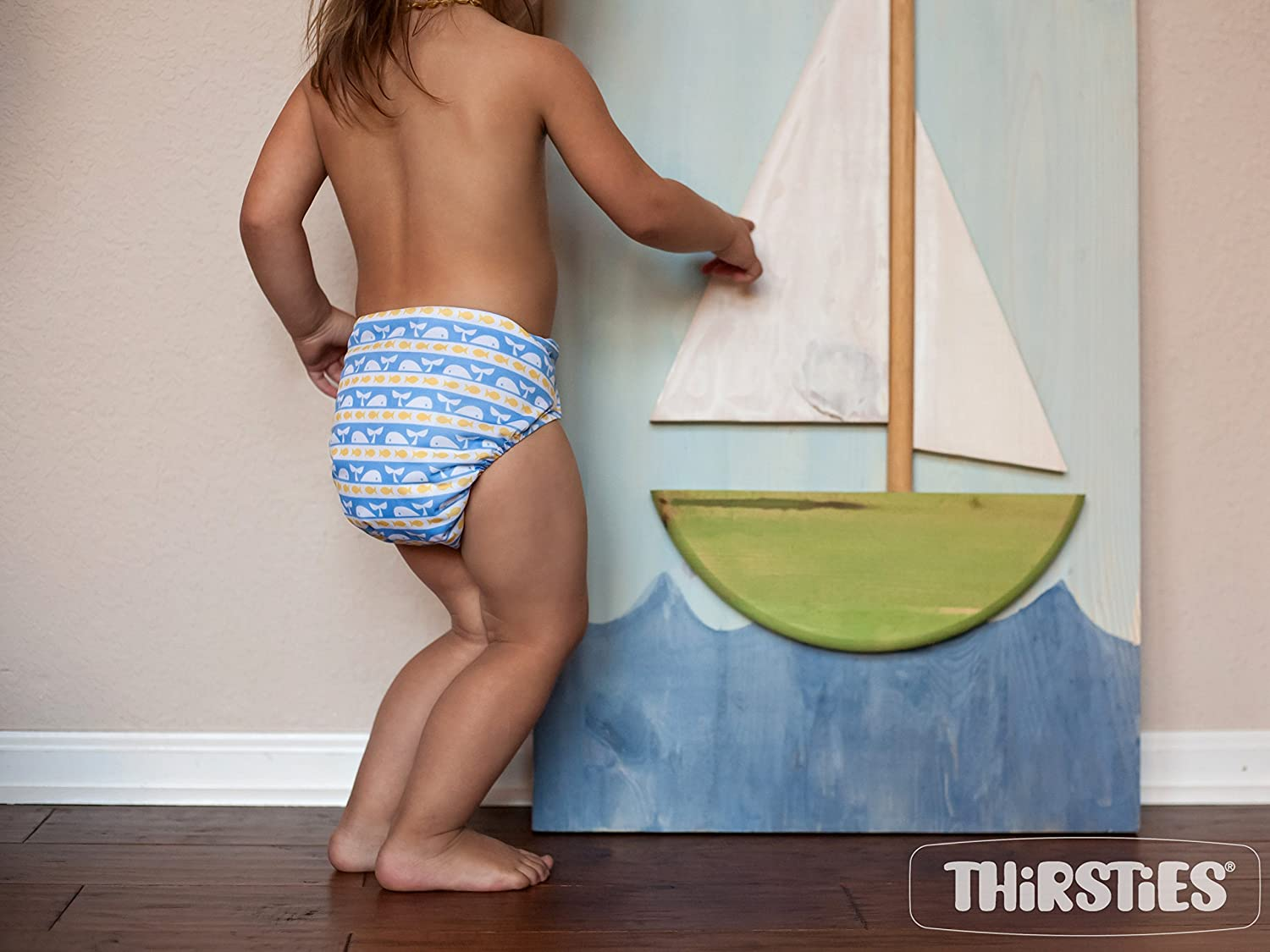 Thirsties Snap All in One Diaper, Aqua, One Size TOSAIOSA