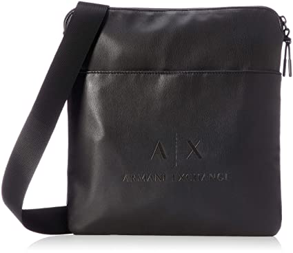4acc6cbc3665 Image Unavailable. Image not available for. Color  Armani Exchange Men s  Medium Sized Flat Crossbody ...