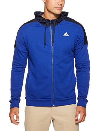 adidas Herren Sports ID Full Zip French Terry Kapuzen-Jacke, Mystery Legend  Ink  cf238a42b3
