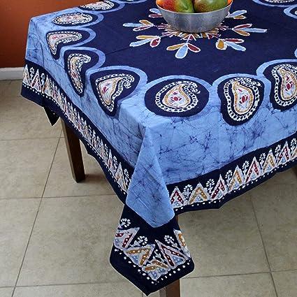 Multi Batik Print 60u0026quot; X 60u0026quot; Square Tablecloth ...