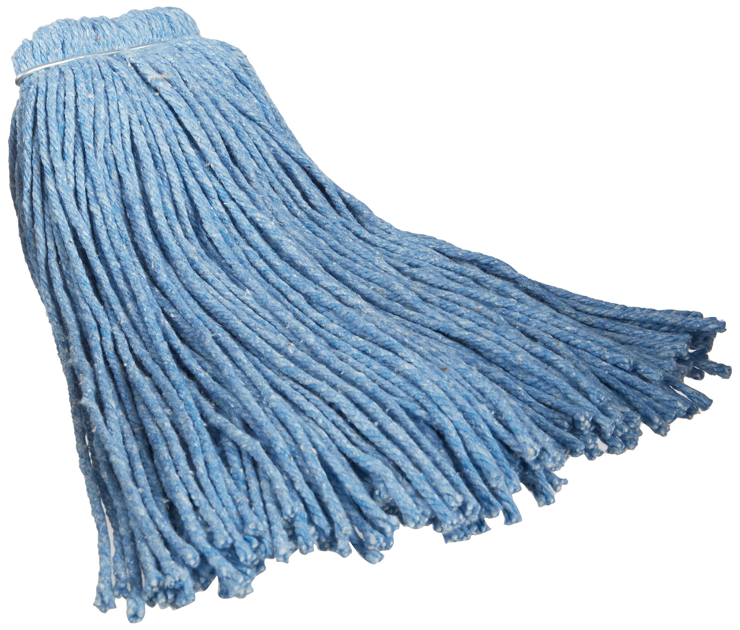 Impact 26520 Valumax Screw-Type Regular Cut-End Blend Wet Mop Head, 20 oz, Blue (Case of 12) by Impact Products (Image #1)