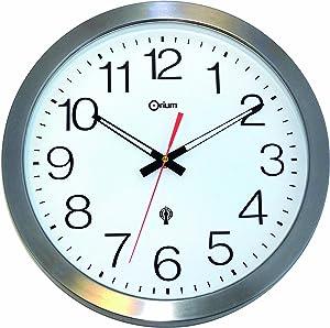 Orium 11385 -Reloj de Pared Impermeable metálico de Acero Inoxidable (35,5x 35,5x 4,5cm)
