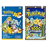 Pokemon Sticker Book & Fun Pack Set - Includes over 1000 stickers