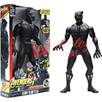 Marvel and Justice League Comic/Movie Super Hero Legends - 12 Inch Action Figure Toy with Sound and Batteries (Black Panther)