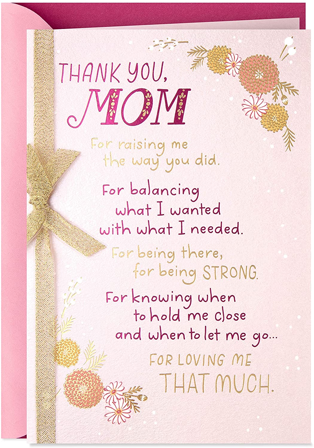 Hallmark Mothers Day Card From Son Or Daughter Thank You Mom Amazon Ca Office Products