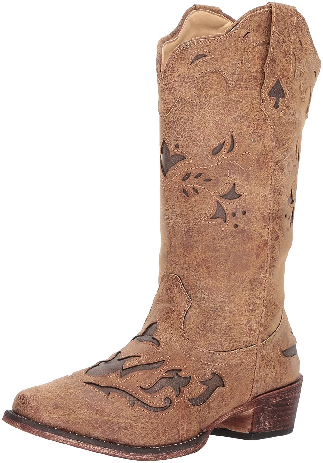 Roper Women's Spade Western Boot B074D4BP26 9 B(M) US|Tan
