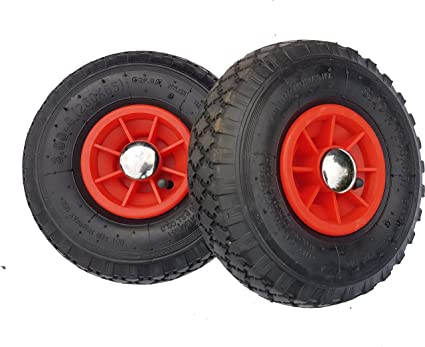 Frosal - 2 ruedas neumáticas con cilindro de fijación, rueda de repuesto para cochecitos de