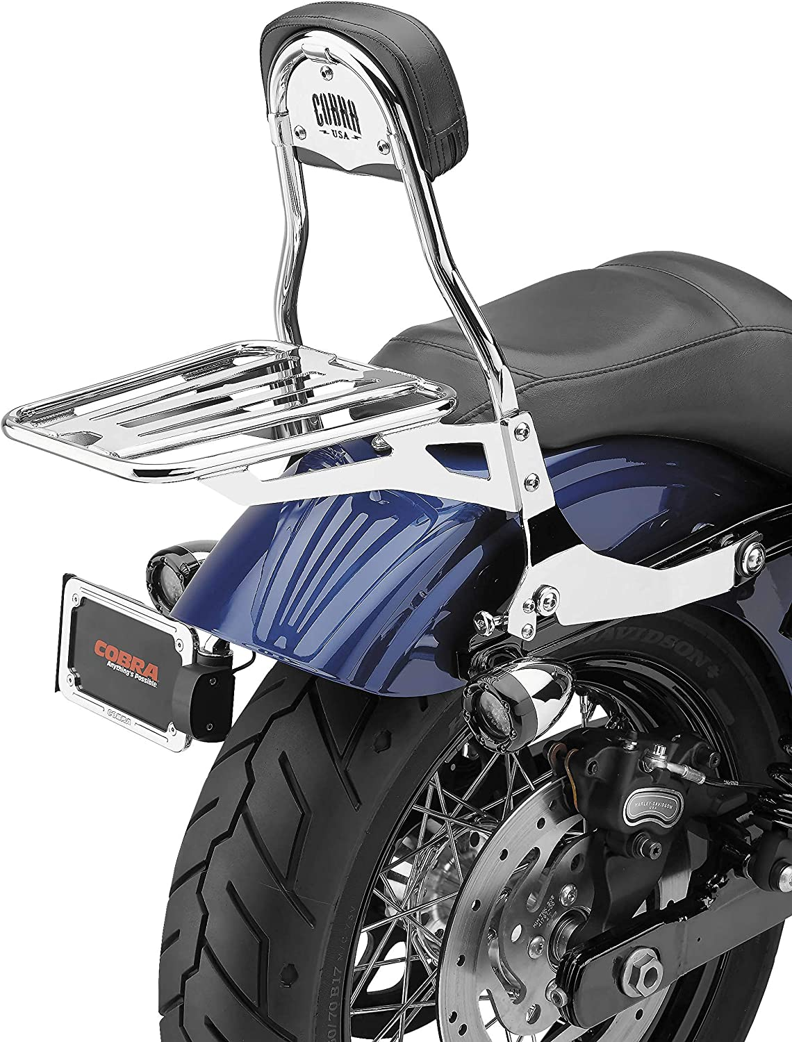 Cobra Chrome Quick Detachable Backrest 602-2004