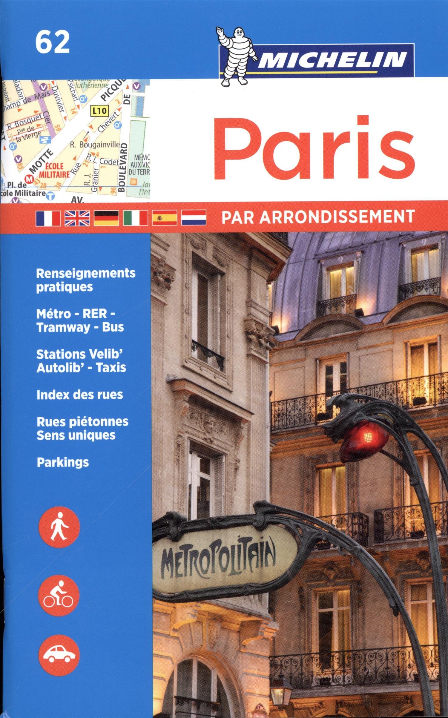 Michelin Paris by Arrondissements Pocket Atlas #62 (Michelin Map & Guide Series)