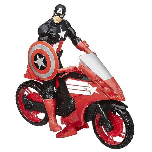 4 opinioni per Marvel- Avengers, Serie Titan Hero, Action Figure di Capitan America con moto