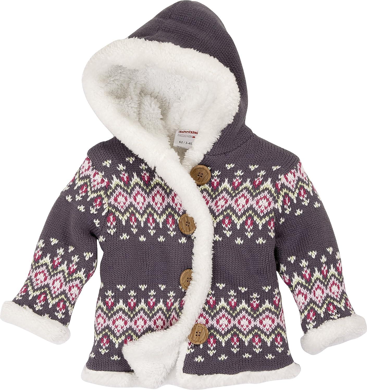 Schnizler Baby Girls' Blumen, Fleece gefüttert mit Kapuze Cardigan Playshoes GmbH 850105